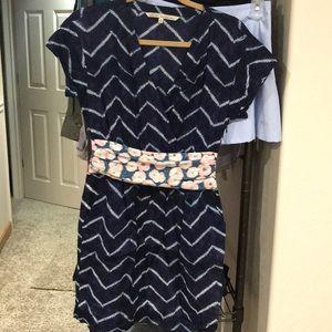 Rachel Roy pattern side zip dress